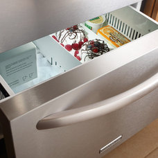 """KitchenAid KDDC24CV 24"""" Built-in Double Drawer Refrigerator/Freezer with 4.8 cu."""