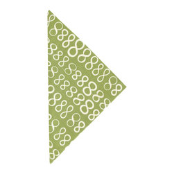"""Pine Cone Hill - PCH Infinity Sprout Napkins Set of 4 - Casual yet chic, the Infinity cloth napkins from PCH function durably with style in mind. These modern table linens boast an iconic figure-eight pattern in sprout green and white. 22""""W x 22""""H; Set of 4; 50% cotton/50% linen; Designed by Pine Cone Hill, an Annie Selke company; Machine wash cold, tumble dry low; Do not bleach"""