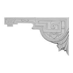"""Ekena Millwork - 11""""W x 6 3/8""""H x 1/2""""D Legacy Stair Bracket, Left - With the beauty of original and historical styles, decorative stair brackets add the finishing touch to stair systems.  Manufactured from a high density urethane foam, they hold the same type of density and detail as traditional plaster stair bracket products.  They come factory primed and can be easily installed using standard finishing nails and/or polyurethane construction adhesive."""