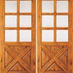 """Knotty Alder Exterior Double Door, 6 Lite 4 Panel, Southwest Home - SKU#SW-89_2BrandAAWDoor TypeExteriorManufacturer CollectionWestern-Santa Fe Entry DoorsDoor ModelDoor MaterialWoodWoodgrainKnotty AlderVeneerPrice1720Door Size Options2(30"""") x 80"""" (5'-0"""" x 6'-8"""")  $02(32"""") x 80"""" (5'-4"""" x 6'-8"""")  $02(36"""") x 80"""" (6'-0"""" x 6'-8"""")  +$202(42"""") x 80"""" (7'-0"""" x 6'-8"""")  +$2002(36"""") x 84"""" (6'-0"""" x 7'-0"""")  +$2202(30"""") x 96"""" (5'-0"""" x 8'-0"""")  +$2202(32"""") x 96"""" (5'-4"""" x 8'-0"""")  +$2202(36"""") x 96"""" (6'-0"""" x 8'-0"""")  +$2202(42"""") x 96"""" (7'-0"""" x 8'-0"""")  +$220Core TypeSolidDoor StyleCrossbuck , RusticDoor Lite Style6 LiteDoor Panel Style4 PanelHome Style MatchingSouthwest , Log , Pueblo , WesternDoor ConstructionTrue Stile and RailPrehanging OptionsPrehung , SlabPrehung ConfigurationDouble DoorDoor Thickness (Inches)1.75Glass Thickness (Inches)1/4Glass TypeSingle GlazedGlass CamingGlass FeaturesGlass StyleGlass TextureClearGlass ObscurityDoor FeaturesDoor ApprovalsDoor FinishesDoor AccessoriesWeight (lbs)680Crating Size25"""" (w)x 108"""" (l)x 52"""" (h)Lead TimeSlab Doors: 7 daysPrehung:14 daysPrefinished, PreHung:21 daysWarranty1 Year Limited Manufacturer WarrantyHere you can download warranty PDF document."""