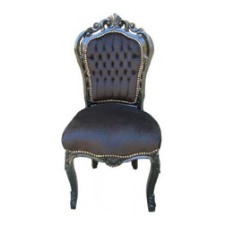 French Louis XV Dining Side Chair - Add some French Elegance to your home with this fabulous French Rococo Style chair.