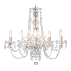 The Gallery - Authentic All-Crystal Chandelier - Indulge your taste for drama with a genuine crystal chandelier. This impressive piece brings nothing but brilliance to your favorite formal setting.
