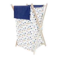 Trend Lab - Trend Lab Baby Jungle 123 Hamper Set - 21562 - Shop for Hampers from Hayneedle.com! Keep the jungle theme rocking with the Trend Lab Baby Jungle 123 Hamper Set. This adorable laundry hamper features a jungle animal print body and navy corduroy outer flap that easily attaches to the collapsible pine wood frame. Plus its machine-washable inner mesh liner is removable which makes doing laundry a cinch.About Trend LabFormed in 2001 in Minnesota Trend Lab is a privately held company proudly owned by women. Rapid growth in the past five years has put Trend Lab products on the shelves of major retailers and the company continues to develop thoroughly tested high-quality baby and children's bedding decor and other items. Trend Lab continues to inspire and provide its customers with stylish products for little ones. From bedding to cribs and everything in between Trend Lab is the right choice for your children.