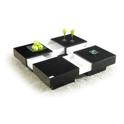 MODERN SQUARE EXTENDABLE TOP COFFEE TABLE WITH STORAGE NAGAI