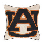 Manual - Auburn University 17 Inch Throw Pillow - This 17 inch square throw pillow is an excellent accent piece for any fan, student or alumnus of Auburn University. The 100% polyester fabric is durable, and will look and feel great for years, whether you display it on a couch or bed. The front of the pillow features the Auburn AU logo, in blue and orange, against an off-white background. The back has no printing. The pillow is proudly made in the USA. This pillow is perfect on chairs, couches, and beds in your home or on your boat- buy a pair and display one on each side for a matching set!