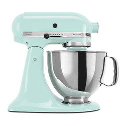KitchenAid Ice Artisan Series 5-quart Stand Mixer - This minty KitchenAid mixer will look cool while churning out delicious goodies.