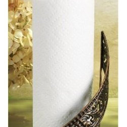Standing Elegant Metal Paper Towel Holder with Ceramic Bottom, Vintage Home Deco - This metal Paper Towel Holder has a wonderful elegant look that will shine on any kitchen countertop! A great gift idea for anyone on your list!