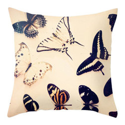 Maybe Sparrows Place - Butterfly Pillowcase - Ever delicate and always delightful, butterflies are one of Nature's most beautiful creatures. Ashley has truly captured their unique characteristics on this stylish throw pillowcase and without using a single butterfly net.