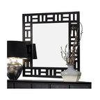 Broyhill - Broyhill Perspectives Lattice Dresser Mirror in Graphite Finish - Broyhill - Mirrors - 4444236 - About This Product: