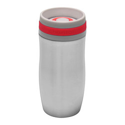 Chantal - Chantal Single Serve Easy Travel Mug, Chili Red, 10 Oz. - 10 oz. single serve easy travel mug