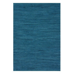 nuLOOM - Casuals 5' x 8' Federal Blue Hand Tufted Area Rug Monotone Cotton Flatwoven - Made from the finest materials in the world and with the uttermost care, our rugs are a great addition to your home.