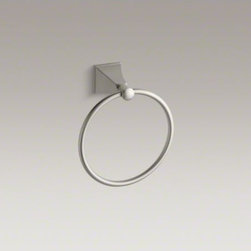 KOHLER - KOHLER Memoirs(R) Stately towel ring - With rich detailing and crisp lines, the Memoirs Collection with Stately design offers refined elegance reminiscent of classical architecture. This towel ring provides a stylish location for hand towels in your bath or powder room.