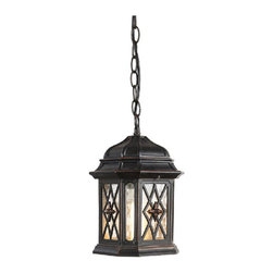 Antique Outdoor Metal and Glass Pendant Lighting -