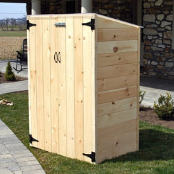 """Riverstone Industries - RSI Potting & Storage Shed - RS-42 - Shop for Sheds and Storage from Hayneedle.com! Compact easy to assemble and proudly made in the U.S.A. the RSI Potting & Storage Shed is an excellent space for storing gardening tools or for use as a potting shed. Hand made by Amish craftsmen this shed is assembled with only US grown and kiln dried solid pine that locks into place via a tongue and groove system. This method of construction keeps it durable and locks out animals and the elements. A natural pine finish can be stained painted or clear coated as you wish or you can leave it as is to weather and patina over time. Thanks to a clear polycarbonate roof plenty of daylight is allowed in so it's always easy to find what you're looking for. This roof design also makes this shed ideal for starting seedlings in a secure controlled environment where there's no concern for frost. The polycarbonate roof is lightweight but very durable. It's 200 times stronger than glass and lets in an enormous amount of light. Designed for 4-season use this shed is ideal for storing snow shovels and lawn care tools seeds plants or garbage cans. It's compact size makes it unobtrusive around the deck patio or porch. Pre-drilled holes and included instructions make assembly easy. This shed will take approximately 1 to 2 hours to assembles depending on your experience. About RiverstoneWorking from the motto """"Green Products for a Brighter Future """" Riverstone Industries was born from the desire to bring products that were good for the environment to the mass markets. Their mission is to solve problems through innovation and function while keeping value and customer service at the forefront of their thinking. Riverstone prides themselves on offering innovative improvements to existing products currently found in the marketplace. Riverstone has maintained a position of outstanding quality and customer satisfaction through the years ensuring their growth and expanding their current"""