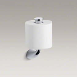 KOHLER - KOHLER Alteo(R) vertical toilet tissue holder - Streamlined for contemporary style, Alteo accessories match Alteo faucets to provide a coordinated look for your bathroom. Constructed of durable metal, this toilet tissue holder has an innovative vertical design for easy use and unique style.