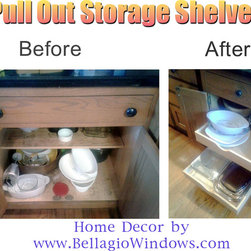 Kitchen Romodeling - Maumee OH - Installed 12 Pull Out Storage Shelves in a home that was newly remodeled. Great way to inexpensively update the look of your kitchen and create additional, usable storage space for much less than buying new kitchen cabinets.