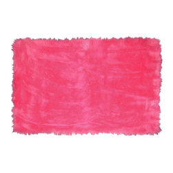 Fun Rugs - Kids Rug in Hot Pink - Your child's room is a natural extension of them. Add these innovative designs from LA Rug to spruce up any child's decor.