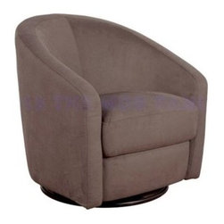 Babyletto Madison Swivel Glider - Slate - You could add the Babyletto Madison Swivel Glider - Slate to any nursery and it would quickly become the cherished piece of furniture in the room. You and your child will have plenty room when you relax into the wide seat and high curved back of this hand-crafted chair. Deep foam cushions are hand-upholstered in soft microsuede that's stain- and water-resistant. The rugged base features a heavy-duty swivel mechanism that adds weight and stability while offering you 360 degrees of smooth rotation. About BabylettoModern and stylish while remaining affordable and eco-friendly Babyletto is a brand with a vision. Established in 2010 Babyletto takes pride in offering quality products for families all designed to open the heart and spark imagination. Working from a platform based on fond childhood memories and special moments they strive to infuse every design with an essence of honesty and creativity while crafting each piece with impeccable quality. Safety is at the forefront of each and every thing they produce and a long-standing relationship with their producers helps to maintain this commitment as well as their dedication to eco-friendly manufacturing.