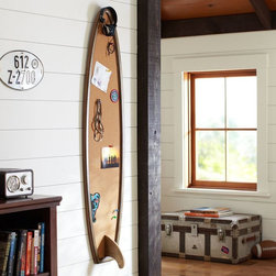 Surfboard Corkboard - All of my kids surf, and my boys have been eyeing this corkboard for their rooms.