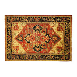 Manhattan Rugs - New Hand Knotted Rust Red & Midnight Blue Heriz Serapi 10x14 Wool Area Rug H3492 - This is a true hand knotted oriental rug. it is not hand tufted with backing, not hooked or machine made. our entire inventory is made of hand knotted rugs. (all we do is hand knotted)