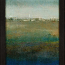 Paragon Decor - Atmospheric Field I Artwork - Strong colors blend with gentle strokes to deliver a quiet semblance to sky and land.