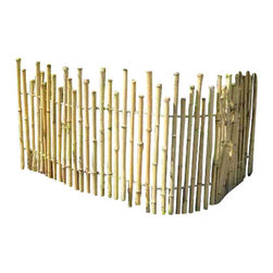 """Master Garden Products - Bamboo Picket Fence, 48"""" - Old-fashioned bamboo picket fences adds a traditional touch to a home, as well as to provide privacy and security. The wire between the poles are covered with sections of bamboo and the gaps between poles allows for an open picket fence look. The spaced pole design of the picket fence allows a homeowner to see the property while also securing it. Our bamboo picket fence gives you another option to one of the most popular fence styles. Regular bamboo picket fences are built with 1 to 1.5 bamboo poles, and the unique black bamboo picket fence poles are between 1/2 to 3/4 because this particular type of bamboo grows in smaller clumps."""