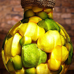 Osage Oranges, Lemons, and Limes - This irresistible, citrus-filled Primo Jar will brighten any interior decor. Looks so real you can almost smell the tang.