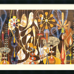 Amanti Art - Megalaria Framed Print by Rex Ray - Rex Ray is known worldwide for his graphic design work, from carpets to cards. Rex Ray's intuitive retro-mod collages provided him relief from his computer work.