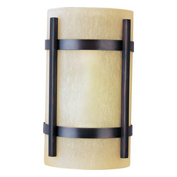 Maxim Lighting - Maxim Lighting 85218WSOI Luna Energy Efficient 1 Light Outdoor Wall Lights - Luna EE, a contemporary style collection from Maxim Lighting, features both indoor and outdoor sconces, pendants and flush mounts available in three finishes, Brushed Metal, Natural Iron or Oil Rubbed Bronze.