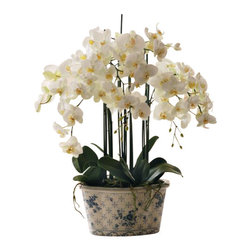 Winward - Phalaenopsis Orchid In Ceramic Pot - Orchids are notoriously the divas of the plant world — requiring special care and attention all year-round. Give yourself a break and invest in a permanent version to beautify your space. You'll enjoy all the perks of plant life and none of the drama.
