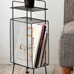 Mini Storage Rack - This is the ideal storage unit/table to put beside a couch or a love seat. I'd use this to store my favorite records and magazines.