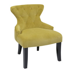 Office Star - Office Star Curves Hour Glass Chair in Basil Velvet - Ave Six Curves Hour Glass Chair What's included: Accent Chair (1).