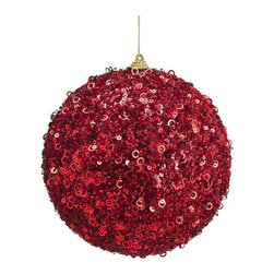 Silk Plants Direct - Silk Plants Direct Glitter Sequin Ball Ornament (Pack of 6) - Red - Pack of 6. Silk Plants Direct specializes in manufacturing, design and supply of the most life-like, premium quality artificial plants, trees, flowers, arrangements, topiaries and containers for home, office and commercial use. Our Glitter Sequin Ball Ornament includes the following: