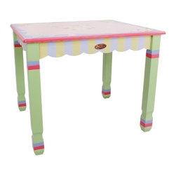 Fantasy Fields - Fantasy Fields Magic Garden Table Multicolor - W-7484A1 - Shop for Childrens Table and Chair Sets from Hayneedle.com! Loaded with charm and playful whimsy the Fantasy Fields Magic Garden Table offers a cheerful spot for your little one to play munch or create. Ideal for crafts snacks or play time this hand-carved table is constructed of solid hardwood and hand-painted in pretty pastel hues. Inspired by intricate yet true-to-form Arts and Crafts style this children s table is constructed using only non-toxic materials.Designed for easy assembly and packaged with step-by-step instructions this piece has undergone thorough stability testing. Recommended for children ages 4 to 11 years.About Teamson DesignBased in Edgewood N.Y. Teamson Design Corporation is a wholesale gift and furniture company that specializes in handmade and hand-painted kid-themed furniture collections and occasional home accents. In business since 1997 Teamson continues to inspire homes with creative and colorful furniture.