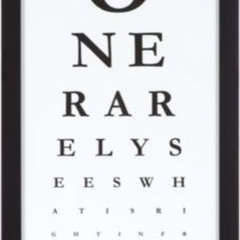 eclectic artwork Eye Chart is Modern Art with a Hidden Message