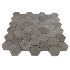 Lagos Gray Hexagon Marble Mosaics