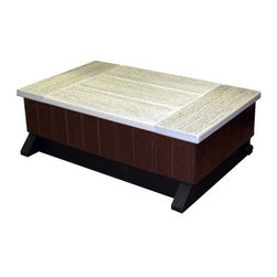 AURA - Hot Tub Single Step Brown - Enhance your hot tub experience with the single step from AURA The single step from AURA provides ease of access into your hot tub.  For ease of access to your hot tub|Single step|White and brown finish   This item cannot ship to APO/FPO addresses.  Please accept our apologies.