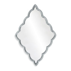 Bassett Mirror - Bassett Mirror Ramato Wall Mirror - Vertical or horizontal — any way you hang it this silvery, scalloped-edged mirror will add a dash of whimsy to your walls.