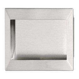 Hafele - Hafele: Flush Handle: Zinc / Steel: Brushed Nickel: M4: 138 X 69mm - Hafele: Flush Handle: Zinc / Steel: Brushed Nickel: : 138 X 69mm