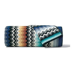 Missoni Home - Missoni Home | Quick Ship: Niles Blue Bath and Hand Towel 5 Piece Set - Design by Rosita Missoni.