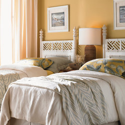 Henry Link Trading Co. West Indies Headboard, Twin - Carved bamboo posts with an X-weave pattern make these twin beds tasteful and stylish.