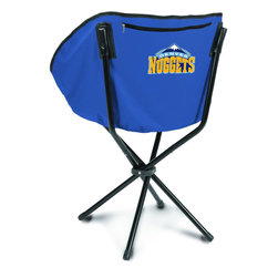 """Picnic Time - Denver Nuggets Sling Chair in Navy - The Sling Chair by Picnic Time is a portable, folding chair you can take anywhere. The chair opens to 20"""" wide x 14"""" deep x 30"""" high. No loose parts It's so compact and convenient, you may just want to keep it in the trunk of your car!; Decoration: Digital Print; Includes: 1 nylon drawstring carry bag"""