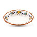 Artistica - Hand Made in Italy - Fruttina: Oval Scalloped Bowl - Fruttina Collection
