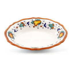 Artistica - Hand Made in Italy - FRUTTINA: Oval scalloped Bowl - FRUTTINA Collection