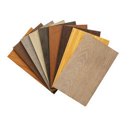 "Stikwood - Sustainable Wood Sample Set - Included is 9-8 x 5"" sample piece of:"