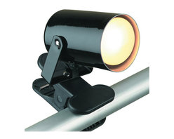 Lite Source - Clip-On Table Lamp Black LS-119BLK - This clip-on spot light is a convenient addition to any space