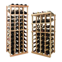 Wine Cellar Innovations - Vintner Series - Individual Bottle Wine Rack - 4 Columns with Display - Each wine bottle stored on this four column individual bottle wine rack is cradled on customized rails that are carefully manufactured with beveled ends and rounded edges to ensure wine labels will not tear when the bottles are removed. This wine rack also has a built in display row. Purchase two to stack on top of each other to maximize the height of your wine storage. Moldings and platforms sold separately. Assembly required.
