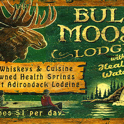 Red Horse Signs - Bull Moose Lodge Vintage Cabin Sign - Vintage  Sign  -  Air  Like  Wine  Nostalgic  Advertising  SignMake  your  rustic  lodge  a  place  of  reknown  with  this  customizable  Bull  Moose  Lodge  vintage  sign.  Simply  replace  'Bull  Moose'  with  your  choice  of  lodge  name  to  have  a  one-of-a-kind  rustic  sign  ready  for  your  lodge    lake  home  or  summer  cabin.  Printed  directly  to  distressed  wood    this  sign  measures  14  x  26.