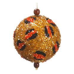 Silk Plants Direct - Silk Plants Direct Bead Animal Print Ball Ornament (Pack of 6) - Gold - Pack of 6. Silk Plants Direct specializes in manufacturing, design and supply of the most life-like, premium quality artificial plants, trees, flowers, arrangements, topiaries and containers for home, office and commercial use. Our Bead Animal Print Ball Ornament includes the following: