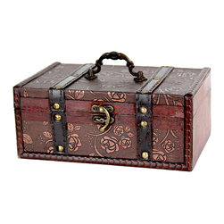 Decorative Leather Treasure Trunk Box - This decorative treasure box is gonna fill any empty place in your home or heart.